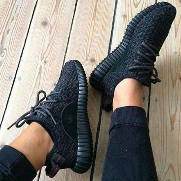77685b8a745b0  95 Womens Adidas Yeezy Boost 350 Pirate Black