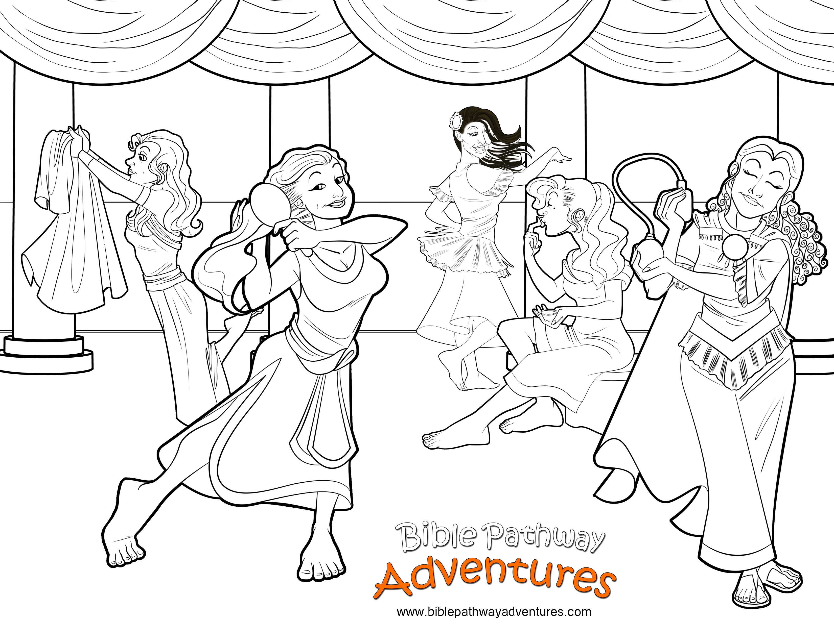 Bible Coloring Page Esther Prepares To Meet The King