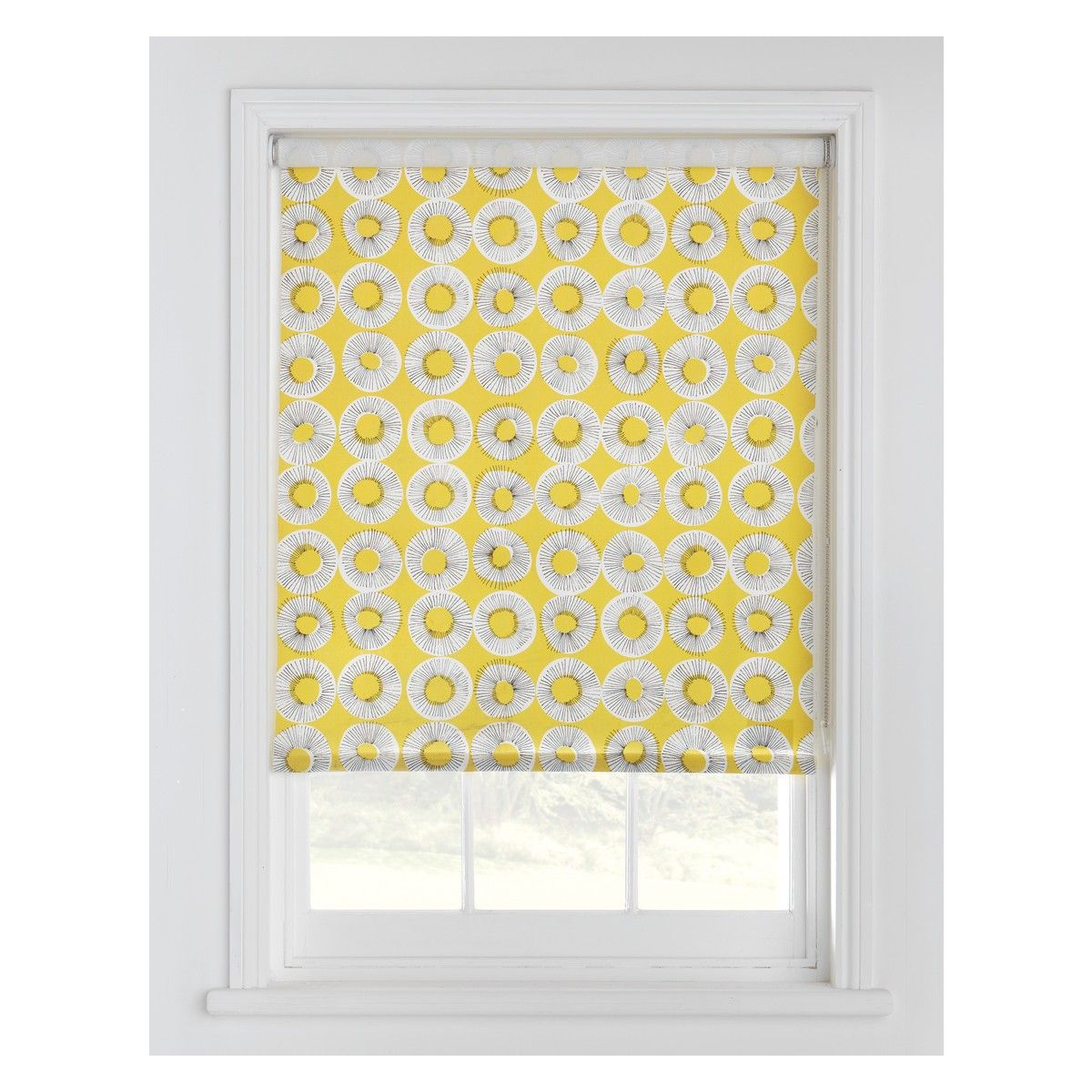Elegant EVELYN Yellow Patterned Roller Blind 61 X 160cm | Buy Now At Habitat UK