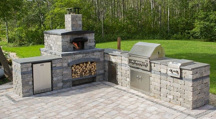 Harvest Grove Outdoor Kitchen Pizza Oven Grill Barkman Pizza Oven Outdoor Brick Pizza Oven Outdoor Backyard Patio