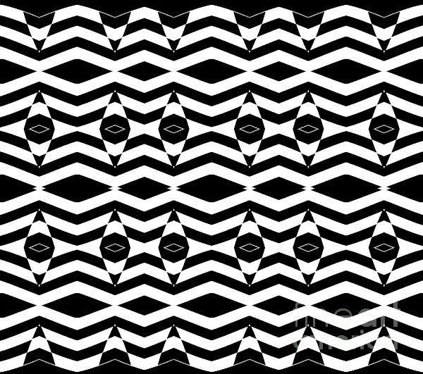 Black White Op Art Pattern, Wall Op Art.
