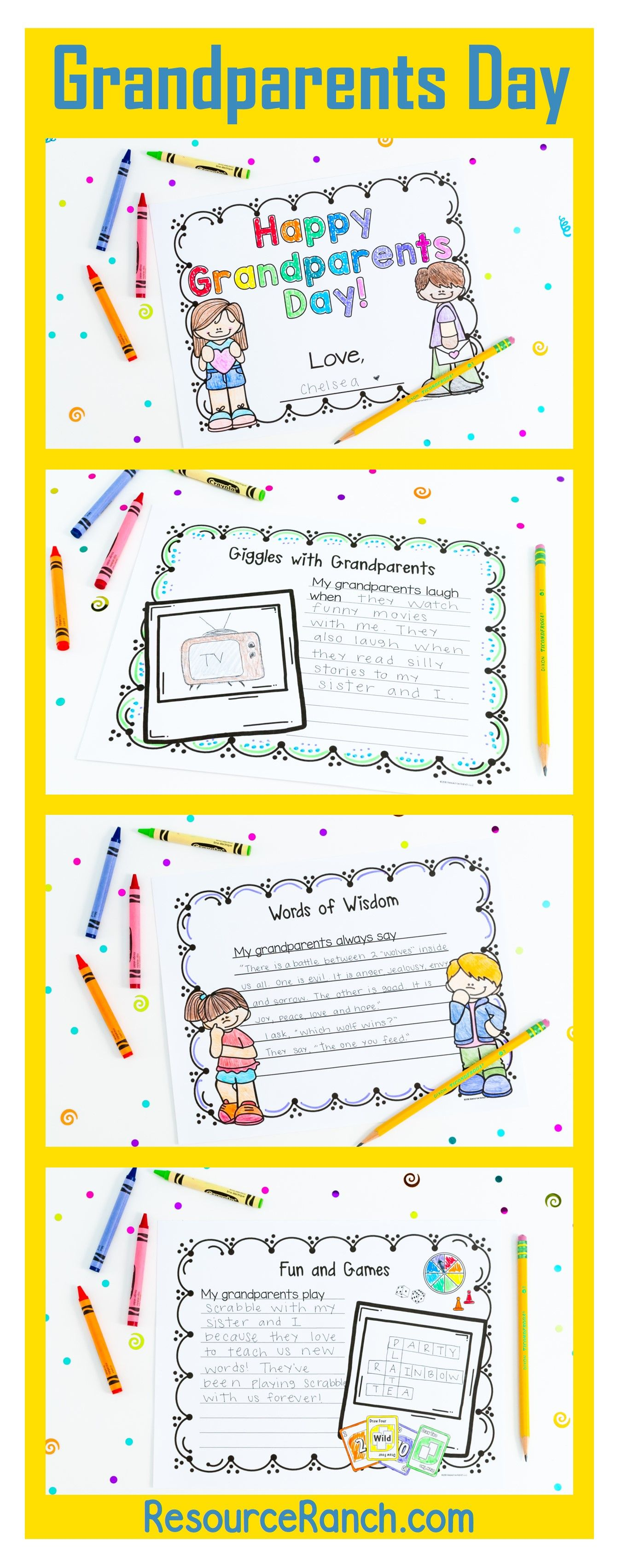 This Grandparents Day Resource Contains Three Separate But