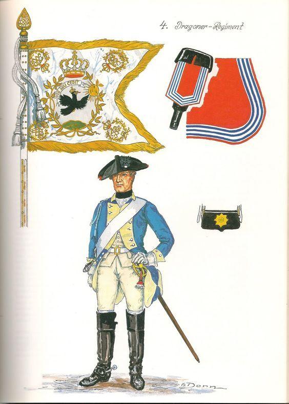 Prussia; Dragoon Regiment Nr.4 c.1757 by G.Donn