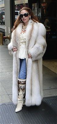 Rare Golden Island Fox Fur Coat