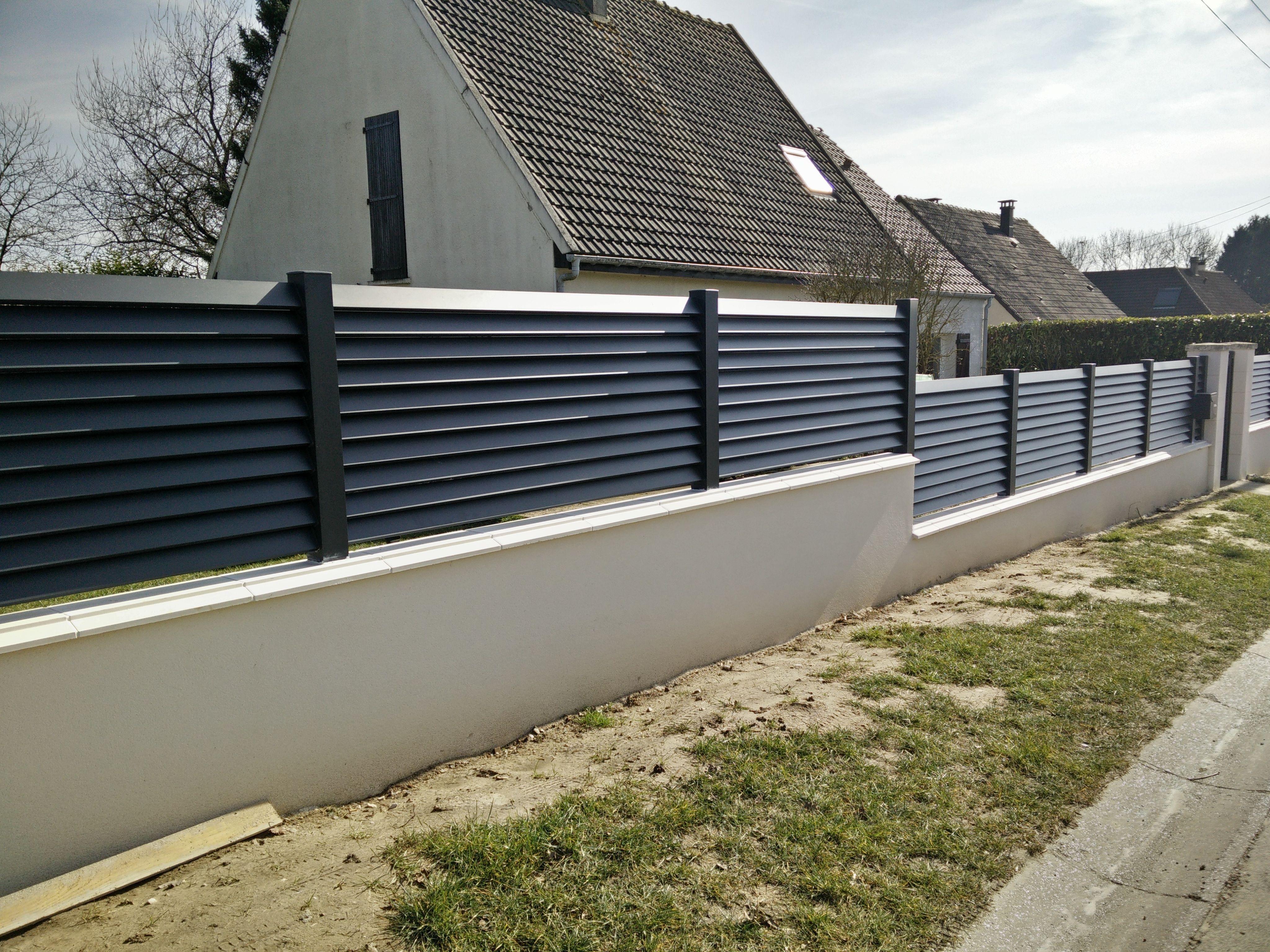 Zaunmontage Aluminiumgrau Anthrazit Oise Diseño De Cercas Cierres De Fincas Vallas Metálicas