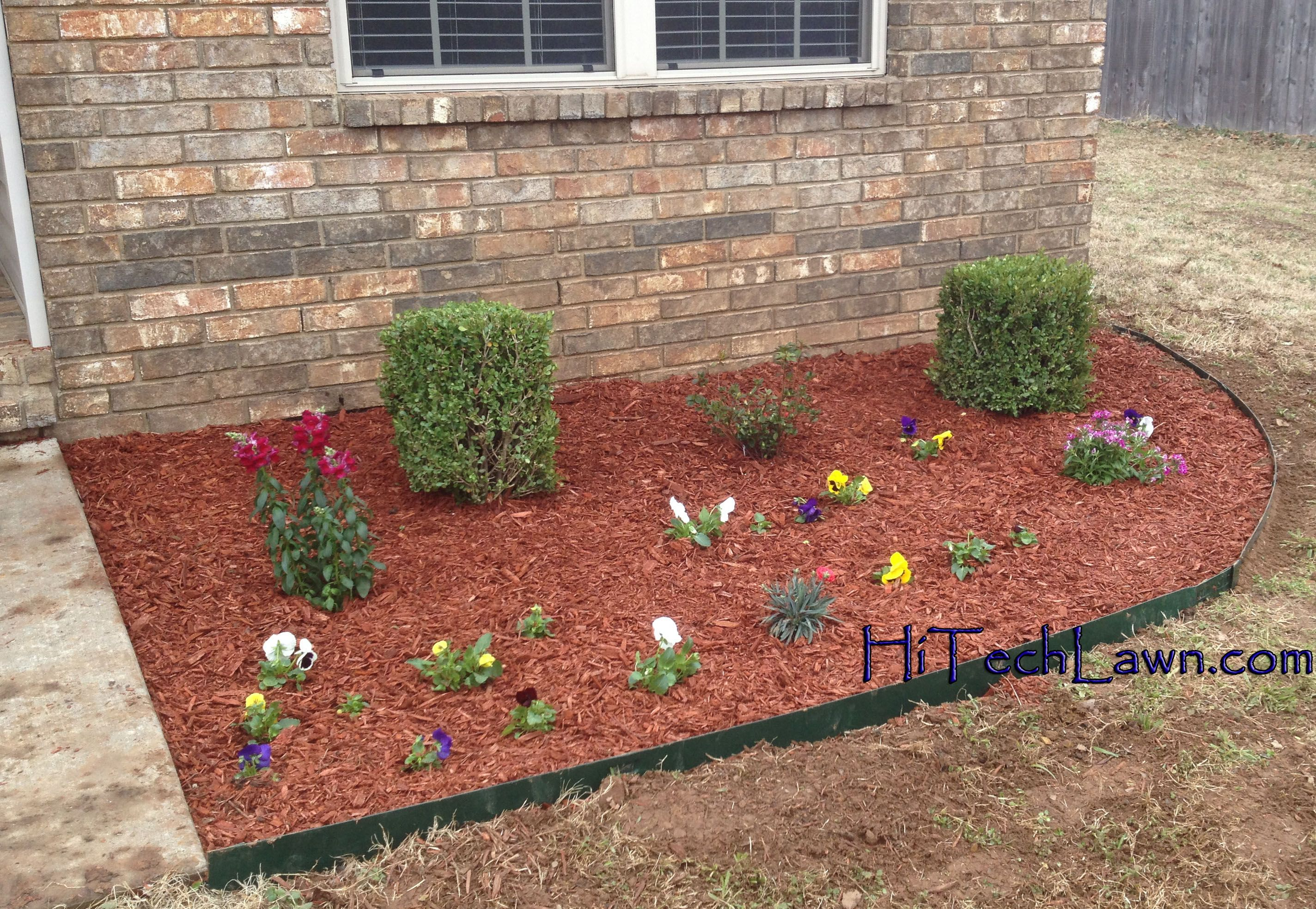 Fort Smith Flowerbeds By Hi Tech Lawn Care.