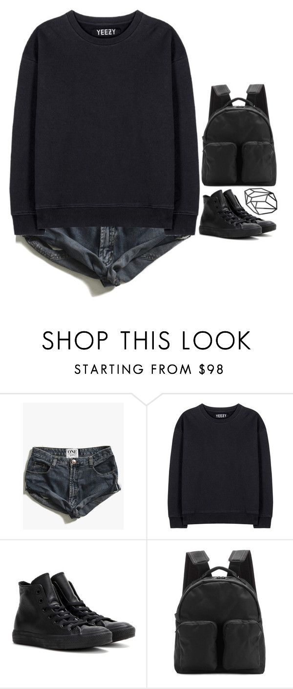 """""""we are made from broken parts"""" by emilypondng ❤ liked on Polyvore featuring One Teaspoon, adidas Originals and Converse"""