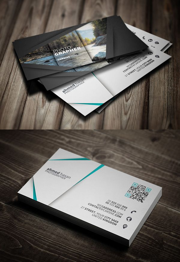 Free Photographer Business Card Template More | vero | Pinterest ...