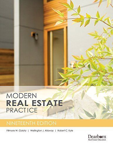 Download free Modern Real Estate Practice 19th Edition pdf