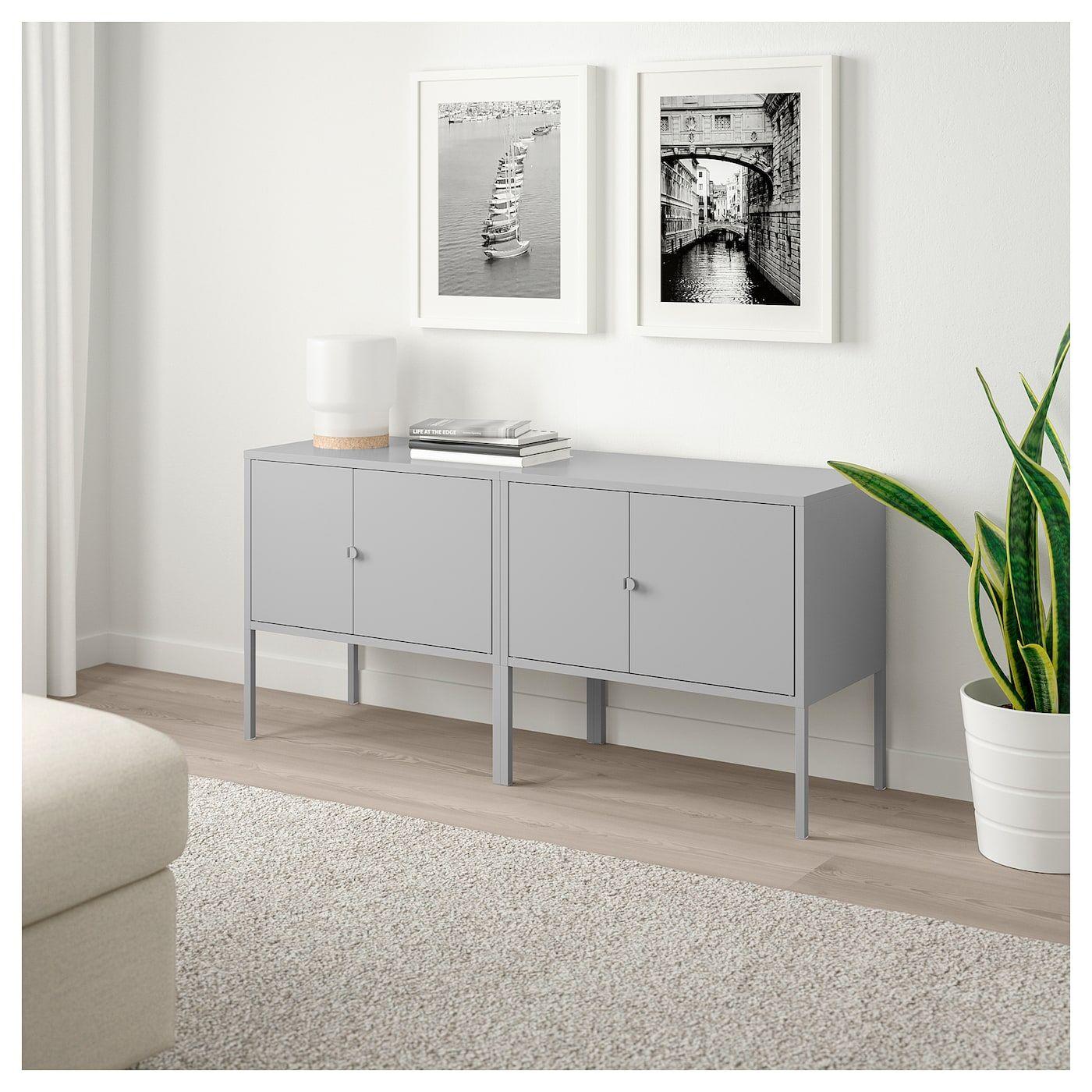 Lixhult Schrankkombination Grau Kuchenschrank Wohnzimmer Grau