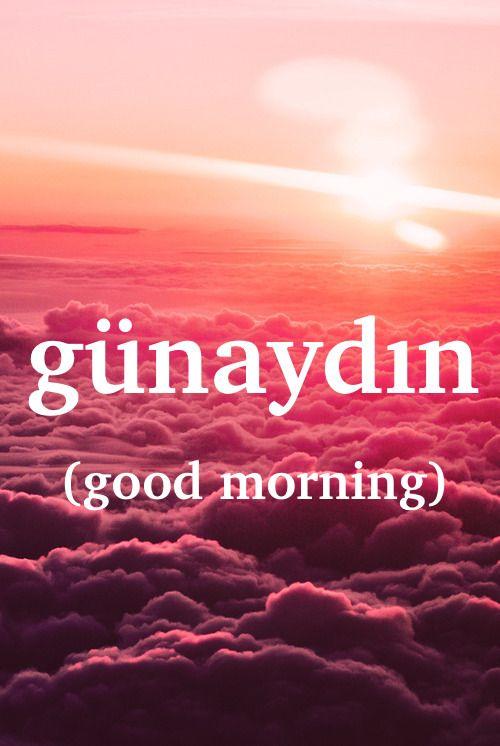 Turkish word: günaydın - n. good morning   Lєαrning ...