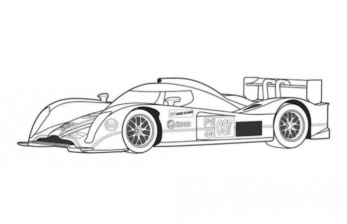 Aston Martin Race Car Coloring Page Free Online Cars