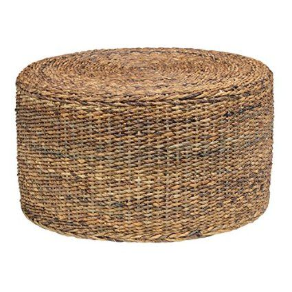 Wonderful Transitional/Contemporary Eco Friendly Ira Rattan Round Coffee Table In  Brown Finish. Comes