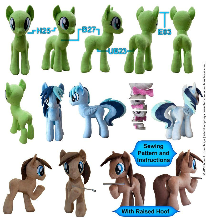 Pony Mare Stallion Plushie Sewing Pattern 27 by adamlhumphreys.deviantart.com on @DeviantArt