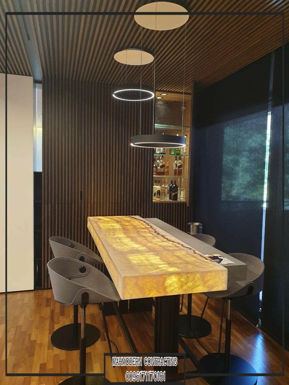 ديكور بار حديث اونيكس Onyx Onix شركة تنفيذ ديكور داخلي مودرن 0096171170181 Whwhatsapp Contracting Home Decor Decor Decor Design