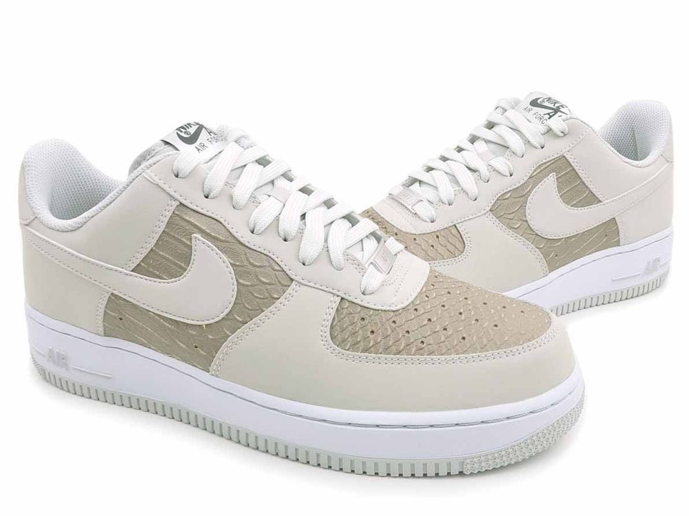 reputable site 5f5a7 0beeb NIKE NEW AIR FORCE 1 LOW SHOES ALLIGATOR EMBOSS LIGHT ASH 488298-055 MENS  SIZE 8   Clothing, Shoes   Accessories, Men s Shoes, Athletic   eBay!