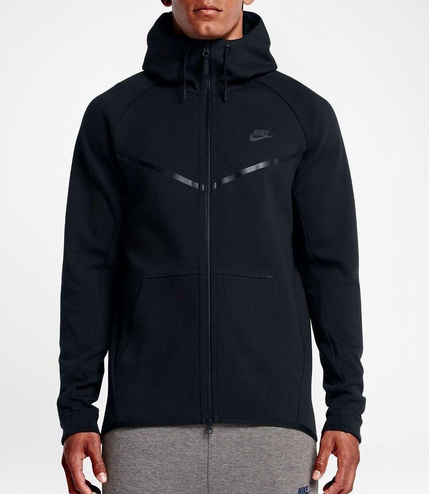Nike Tech Fleece Windrunner Hoodie Jacket Mens S Black 805144 010 Nike Hoodie Nike Sportswear Hoodie Nike [ 1000 x 870 Pixel ]
