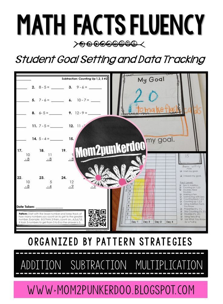 Math Facts Fluency Practice With Data Tracking   Data tracking ...