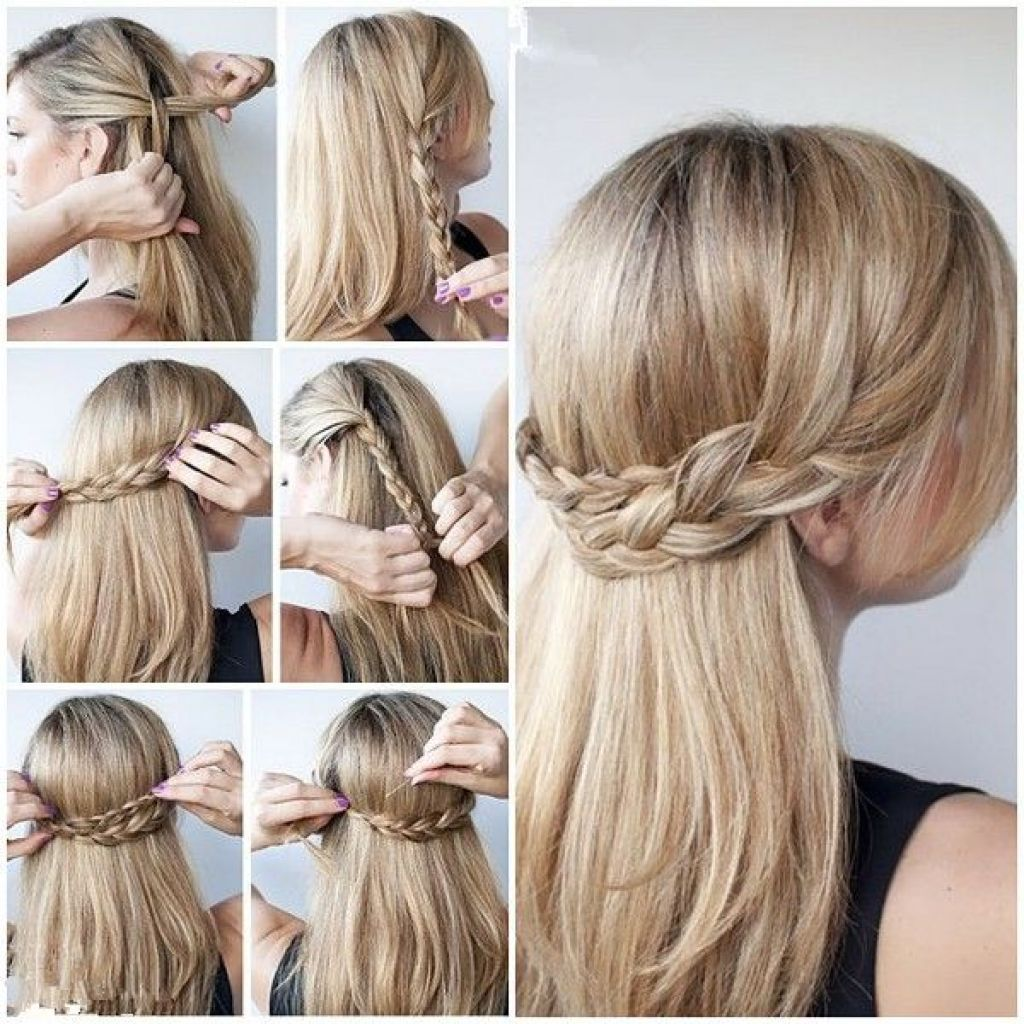 Quick And Easy Updos For Long Thick Hair Lange Haare Beauty Make Up Medium Hair Styles Braids For Long Hair Thick Hair Styles