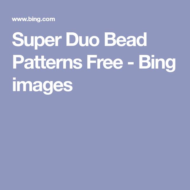 Naomi Duo 3 Bing Images: Super Duo Bead Patterns Free