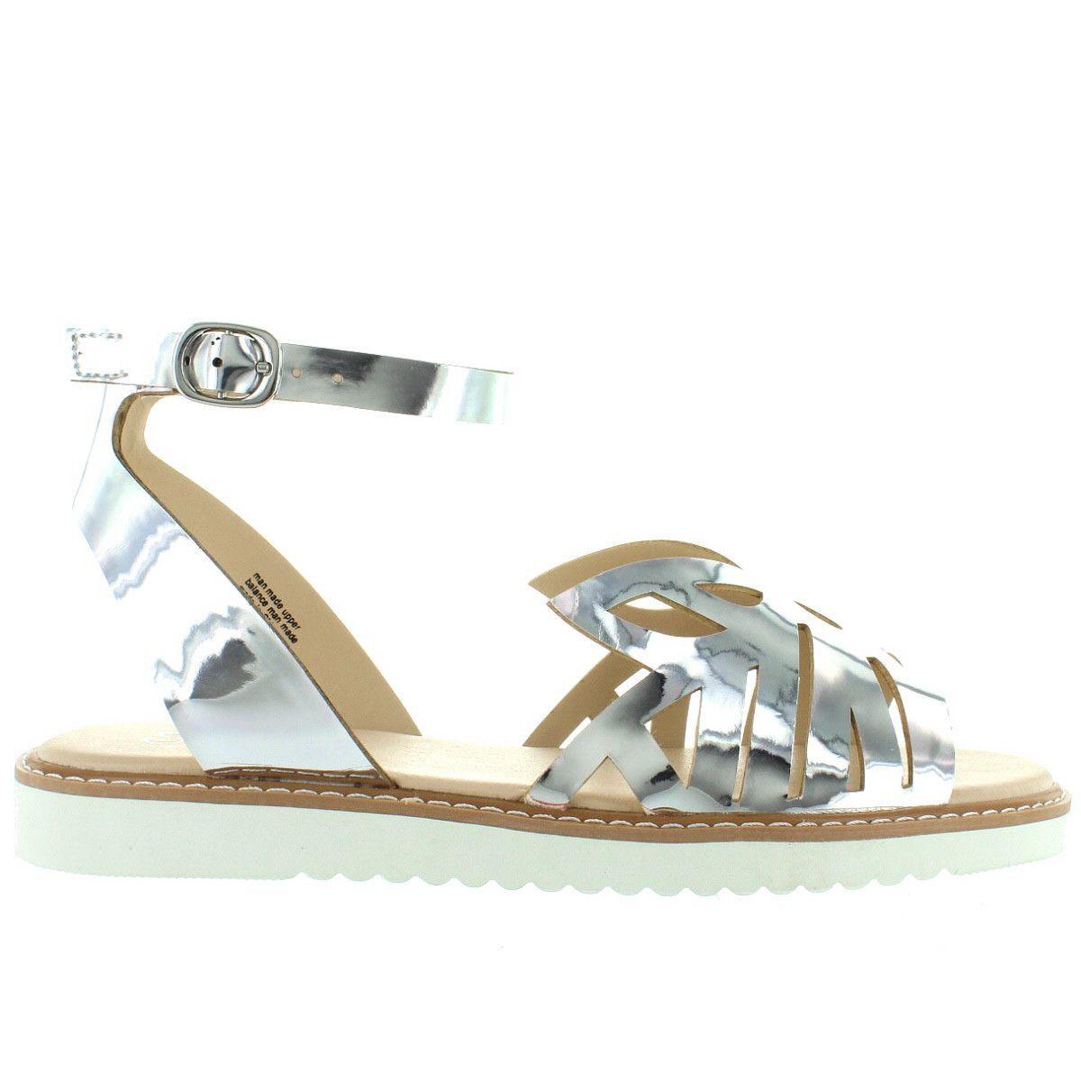 fd60252af3ff Seychelles Catnip - Silver Mirror Leather Cut-Out Low Platform Wedge Sandal