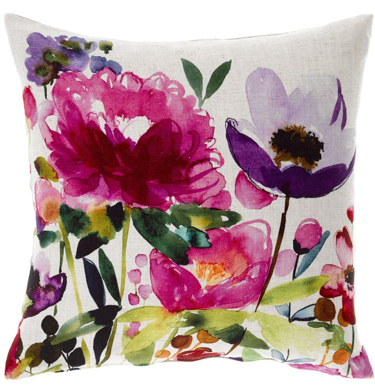 Anenome cushion by bluebellgray available through Adore Home magazine's online shop. Love the pretty watercolour floral design. $145. http://www.adoremagazine.com/shop/