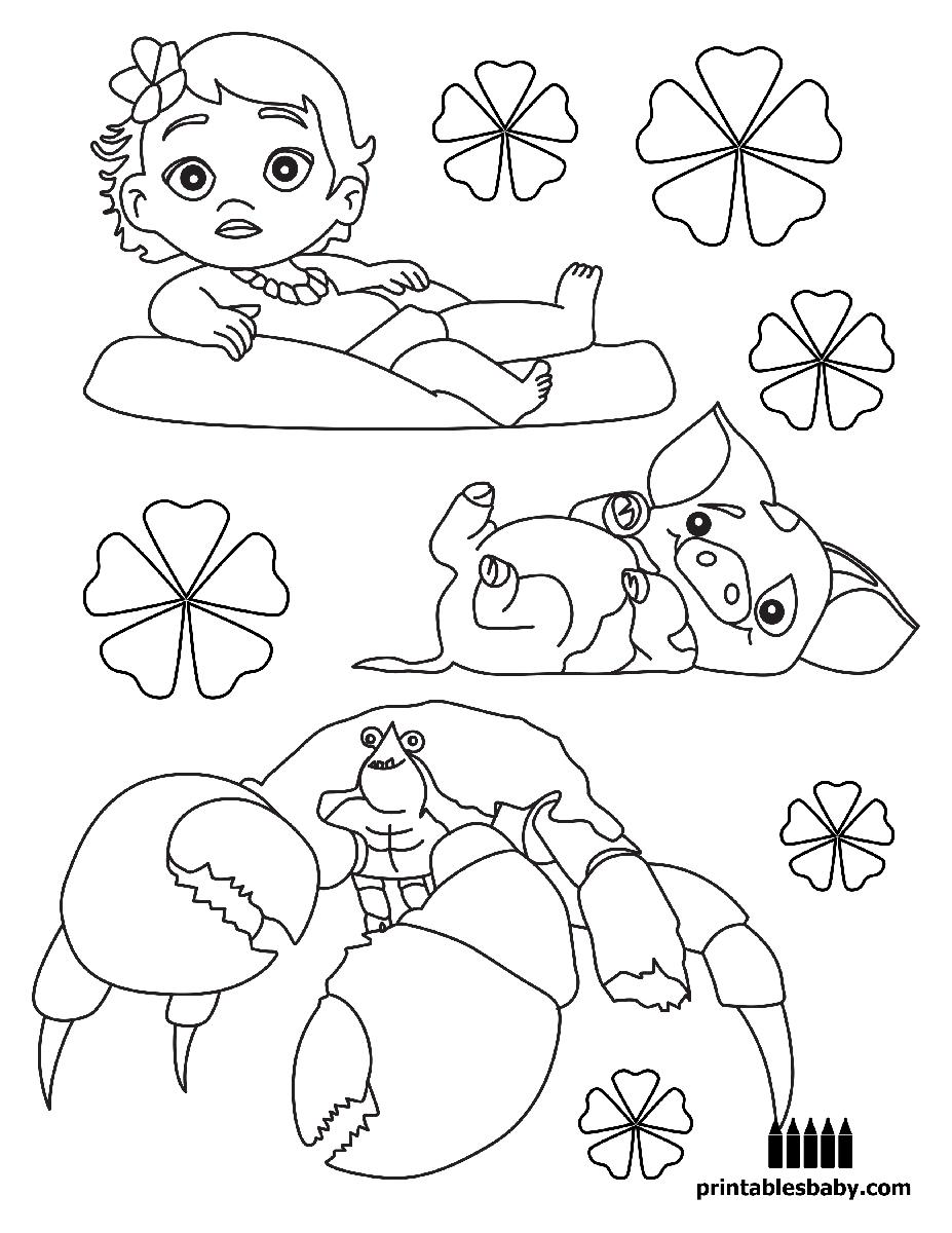 Moana Dibujos A Lápiz Dibujos Para Colorear Y Dibujo De Bebé