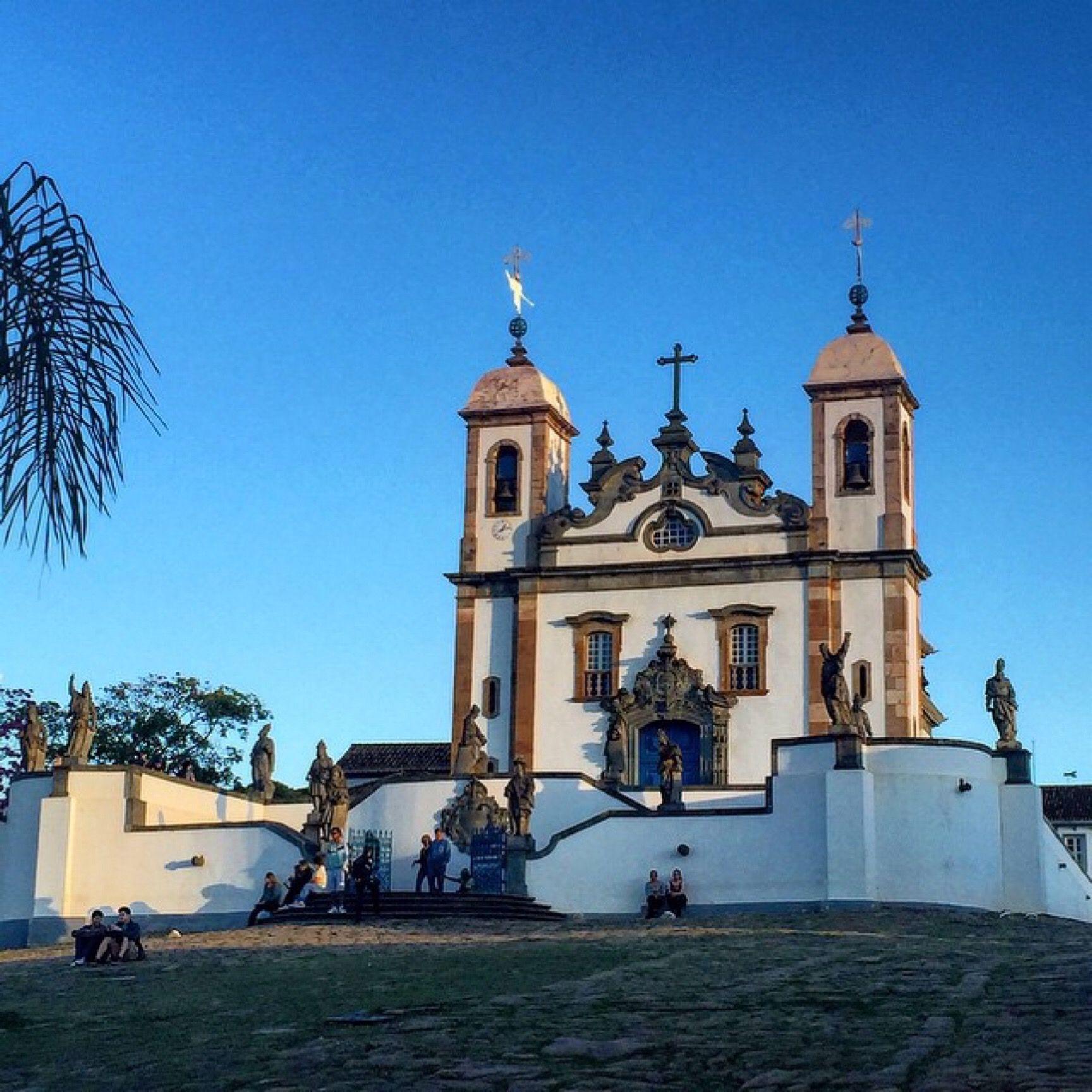Basílica do Bom Jesus. Localizada em Congonhas do Campo, Minas Gerais (MG), Brasil. Fonte: amearquitetura (instagram)