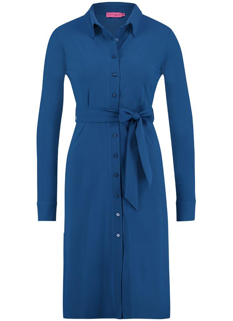 c8e0192e98b9c4 Studio Anneloes yara dress 02328 Dames kleding Jurken blauw € 83,97 ✓  Direct leverbaar