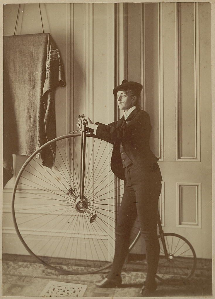 Self portrait by the American photographer Frances Benjamin Johnstonn dressed as a man