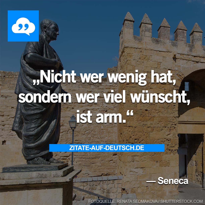 Armut Spruch Sprüche Wunsch Zitat Zitate Seneca