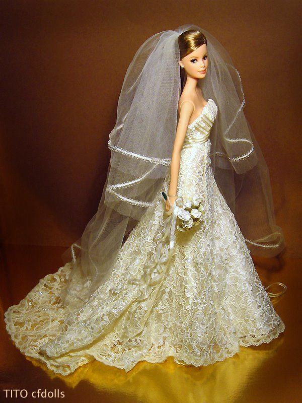 Barbie Carolina Herrera Bride | Luna\'s | Pinterest | Barbie, barbies ...