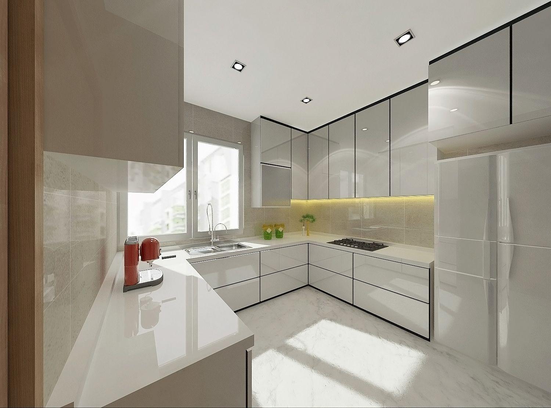 Kitchen Design for Condominium in Singapore by Posh Urban Pte. Ltd.