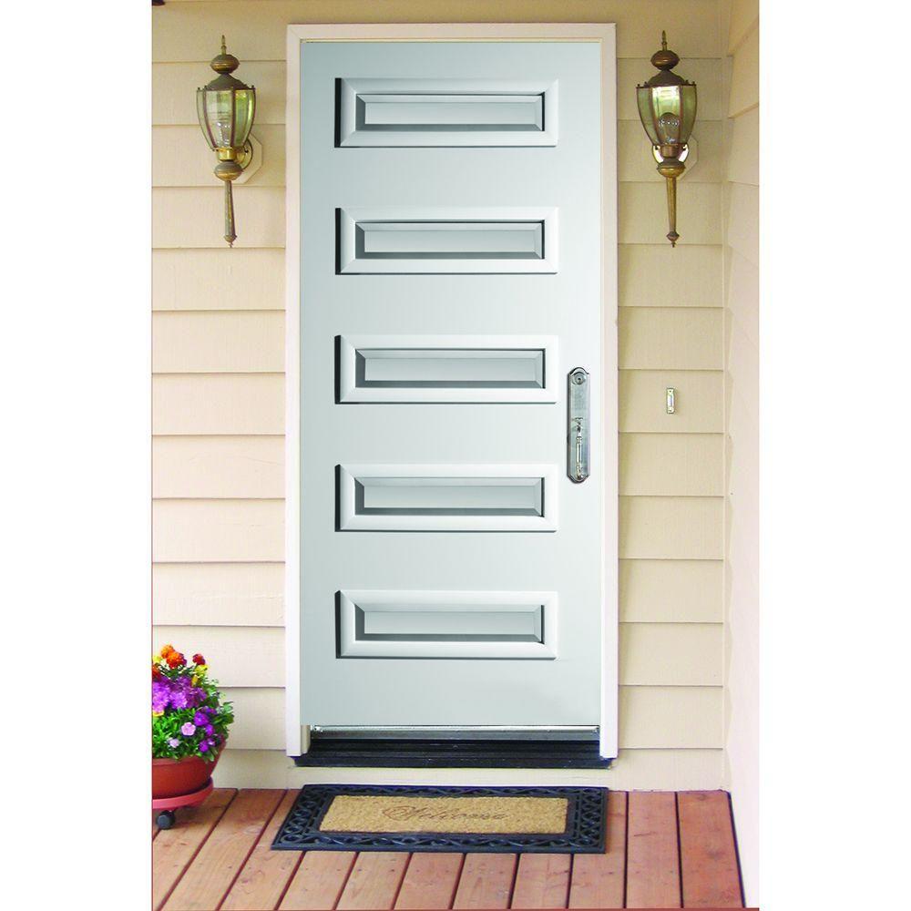 Stanley Doors 37.375 in. x 82.375 in. Ruth Satin Opaque 5 Lite Painted White  sc 1 st  Pinterest & Stanley Doors 37.375 in. x 82.375 in. Ruth Satin Opaque 5 Lite ...