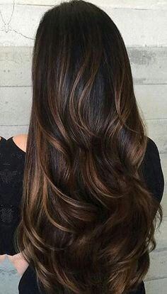 Image Result For Black Hair With Chestnut Highlights Hair Styles Black Hair Balayage Long Hair Styles