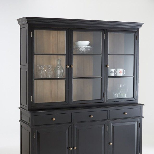 Awesome Small Black Cabinet with Glass Doors