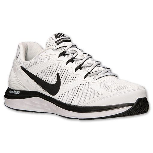 new product 10af8 2863d Men s Nike Dual Fusion Run 3 Running Shoes - 653596 100   Finish Line    White Black Wolf Grey