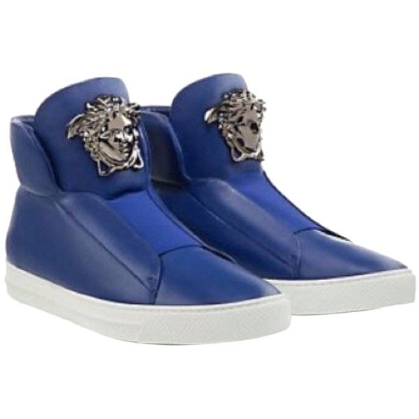 Pre-owned - Leather high trainers Versace 2018 Newest Clearance How Much E8aG8