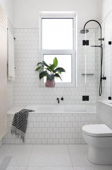 Slight Change From The Subway Tiles I Like The Contrast Grout - How to fix bathroom tile grout for bathroom decor ideas