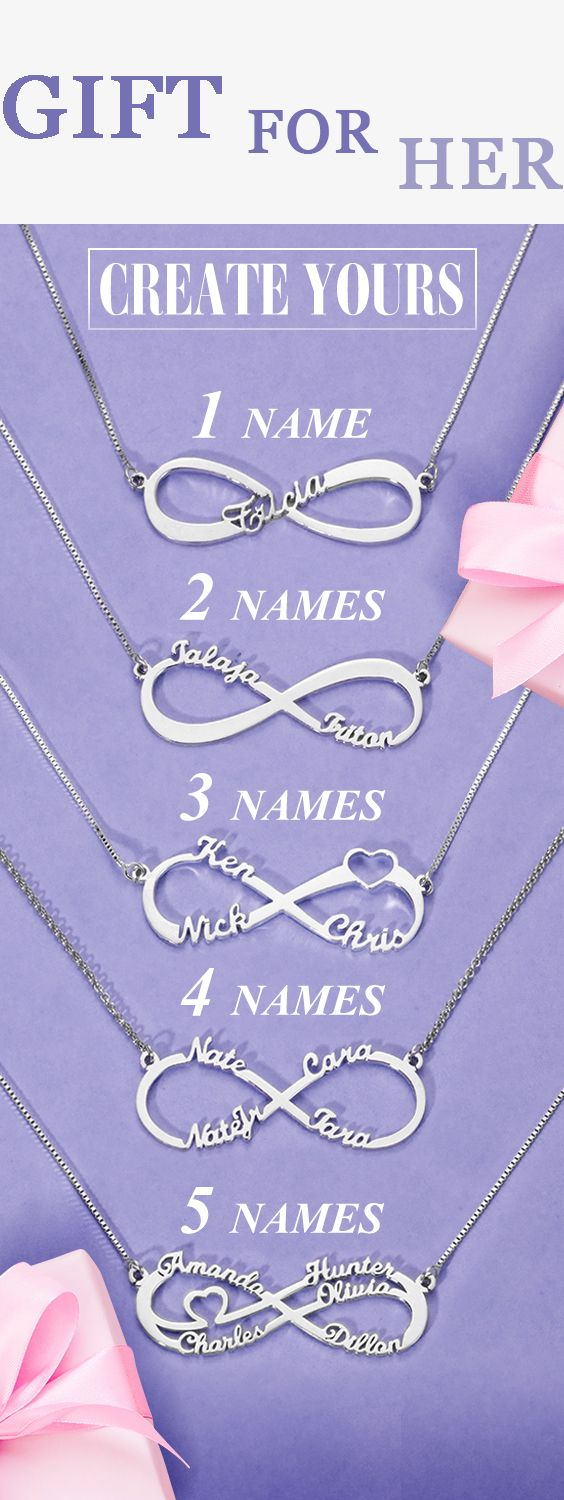 Photo of Personalized Infinity Name Necklace Gift for Her