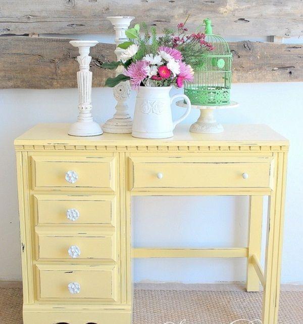 Schreibtisch gelb - Antike mobel restaurieren ...