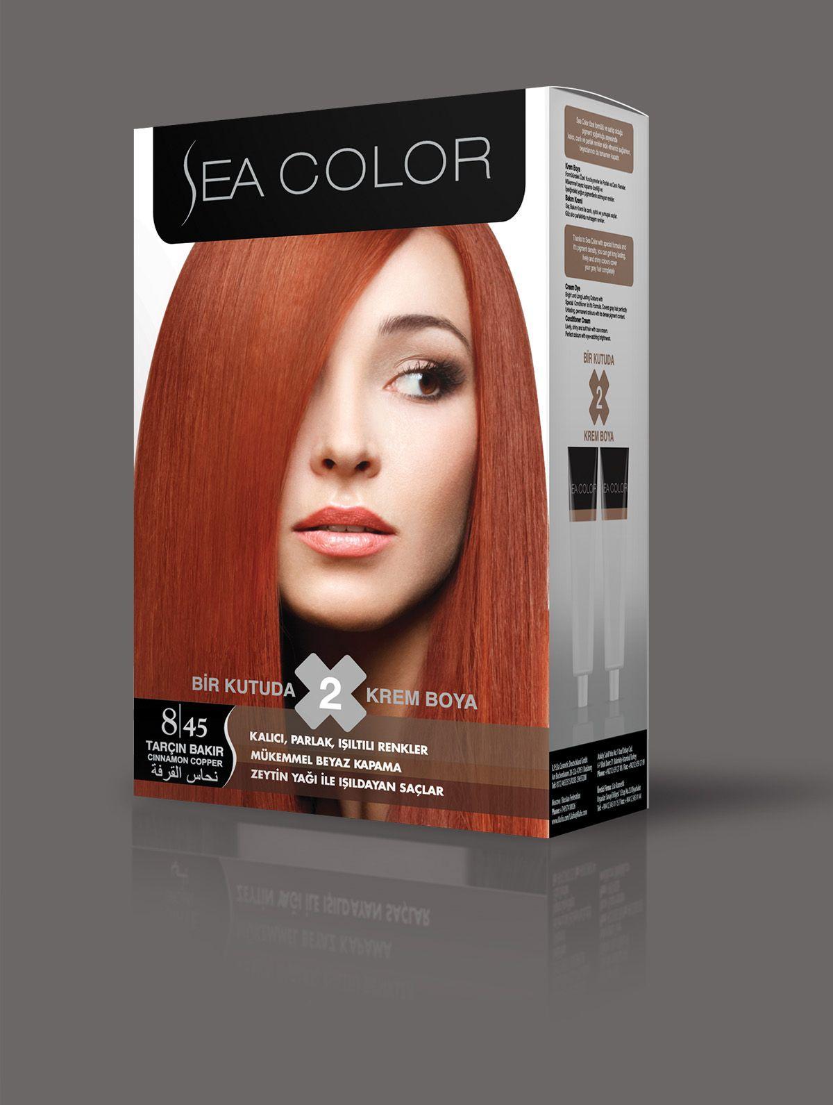 Sea Color Sac Boyasi 8 45 Tarcin Bakir Renkler Sac Sac Boyasi