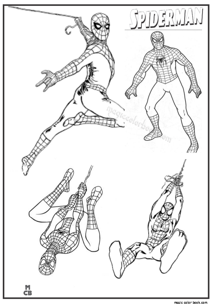 Pin de Magic Color Book em Spiderman Coloring pages free ...