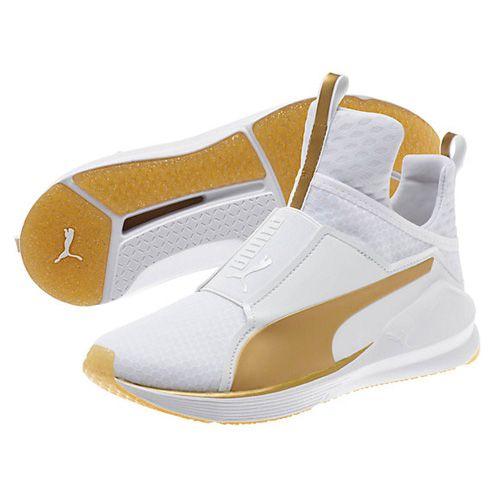 Puma White Fierce Gold Women s Training Shoes via  bestchicfashion bad9248ed