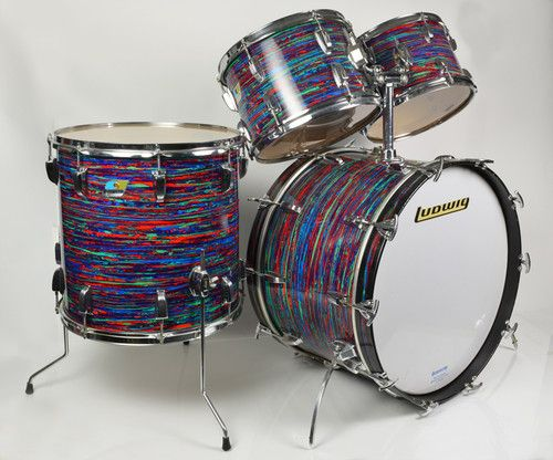 Favorite Custom Kit Youve Seen DRUMMERWORLD OFFICIAL - Putting paint on a drum kit creates an explosive rainbow