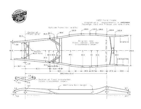 3b785090eb5abd81903dd4fcff6ea072 pour vous plans de châssis de ford 32 en cms chassis pinterest