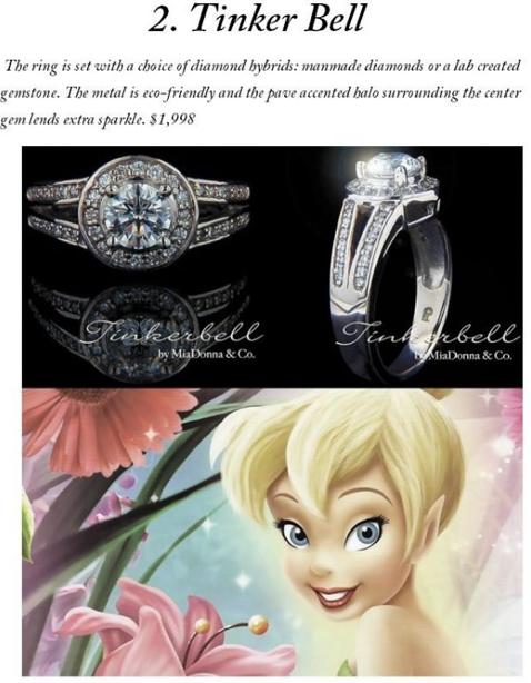 Merveilleux Disney Inspired Engagement Rings   Tinkerbell