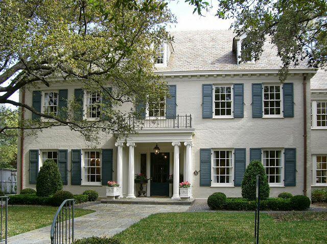 Dormers, moulding, columns, painted brick   Exteriors ...