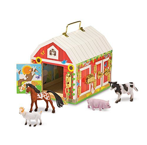 Melissa Doug Latches Barn Toy Unhook The Latches To Open The