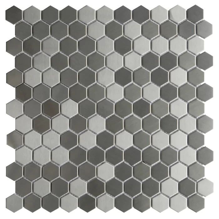 Stainless Steel Lazio Hex 1 2 X 1 2 Metal Mosaic Tile Metal